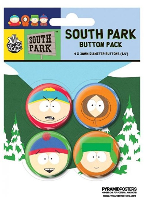 Pyramid International Rozet Seti - Southpark - Faces Renkli